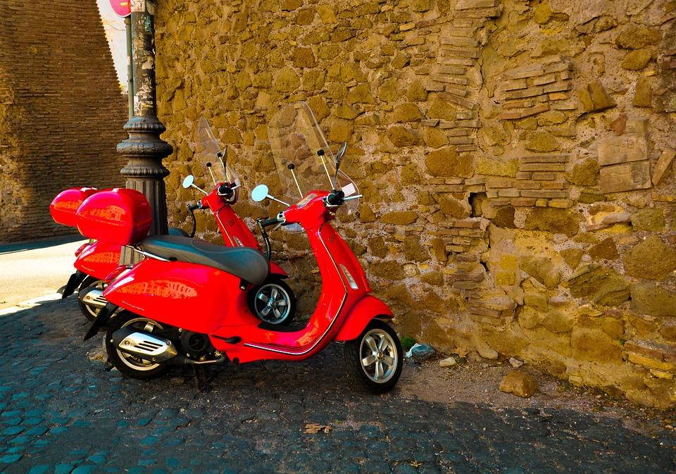 Transportation System, Travel, Italy, Scooters, Vespa