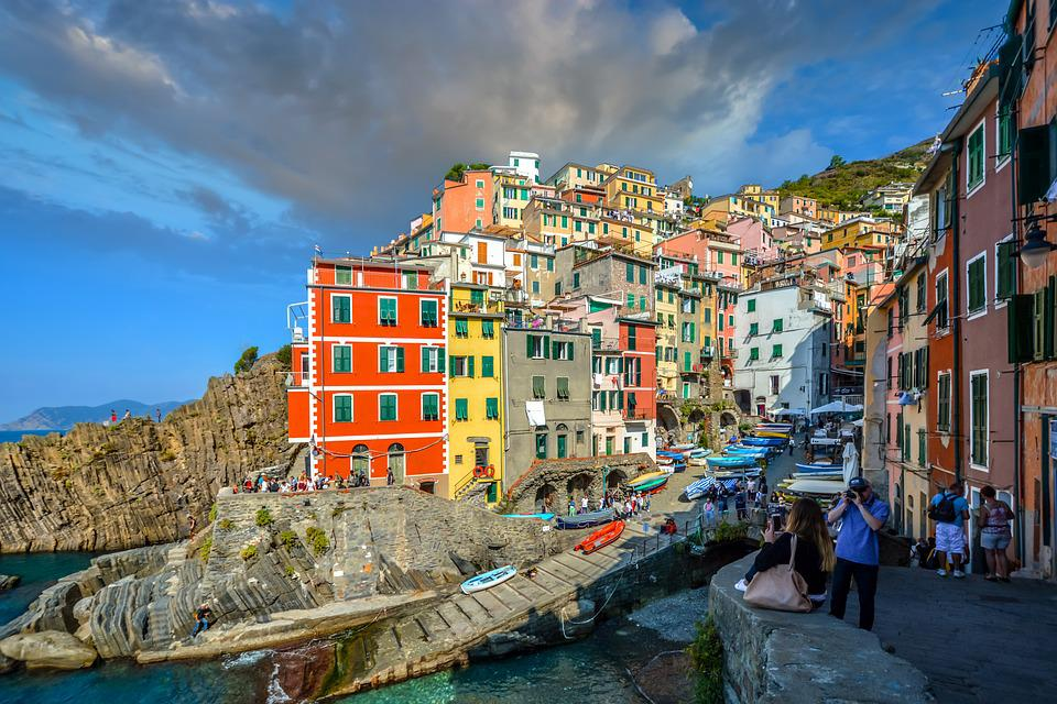Cinque Terre, Italy, Riomaggiore, Town, Travel, Water