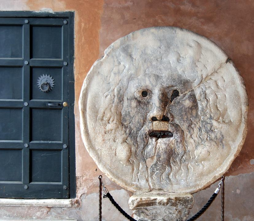 Mouth, Truth, Sculpture, Rome, Italy