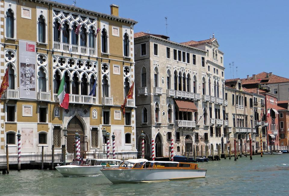 Italy, Venice, Grand-canal, Cad'oro, Facades, Channel