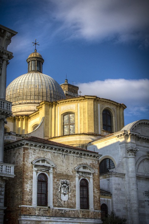 Architecture, Venice, Italy, Dome, Tourism, Europe