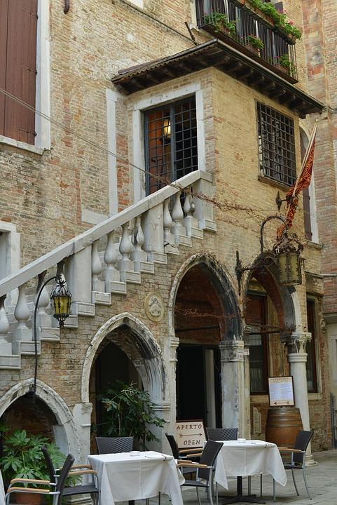 Venice, Restaurant, Italy, Tables