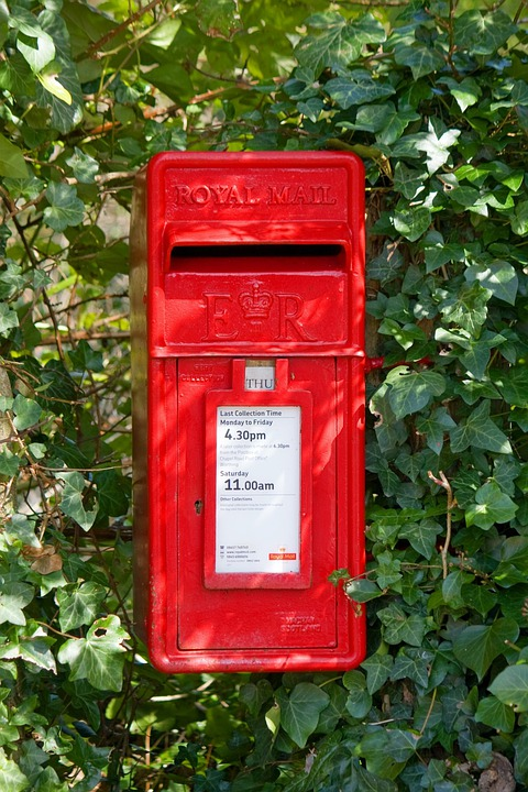 Post Box, Mail Box, Letter Box, Rural, Ivy, Red, Leaves