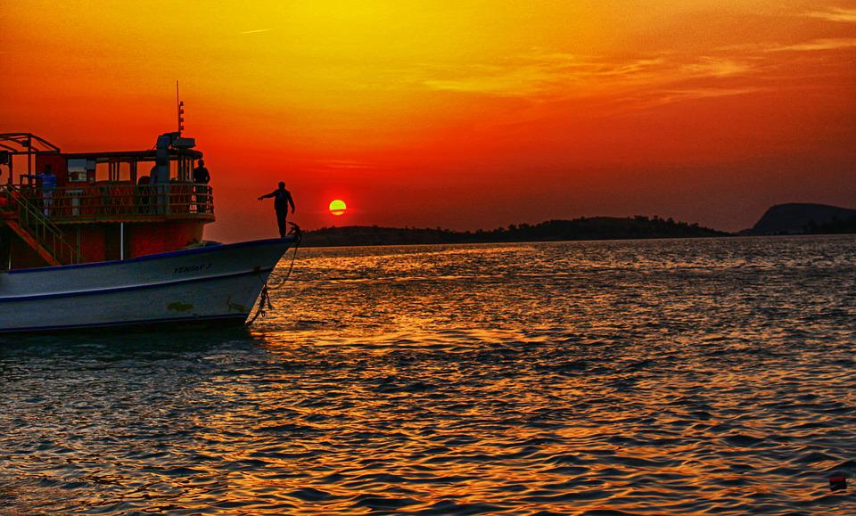 Marine, Sunset, Izmir, Ship