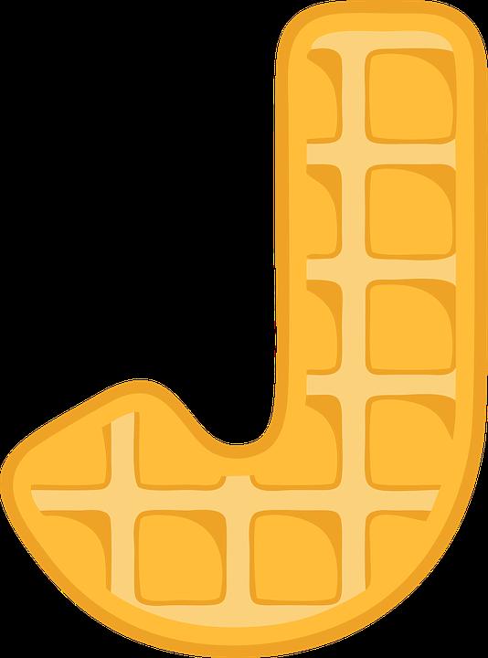 J, Alphabet, Waffle, Letter, Typography, Text, Font