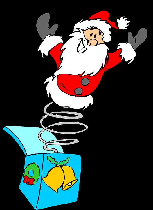 Christmas Holiday Clipart.Free Photo Jack In The Box Clip Art Santa Christmas Holiday