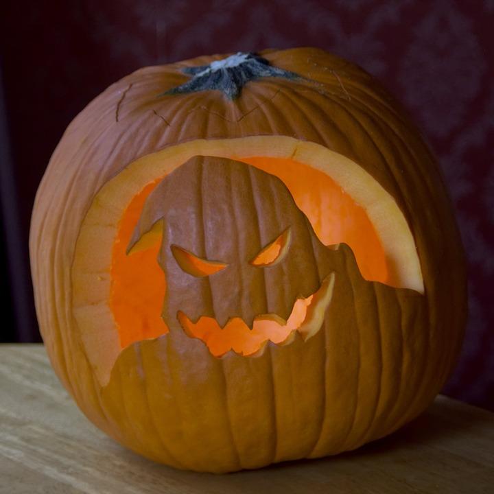 Carved, Pumpkin, Jack-o-lantern, Halloween, October