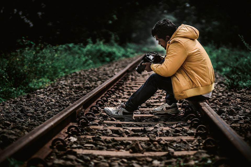 Train Track, Traveller, Yellow, Jacket, Yellow Jacket