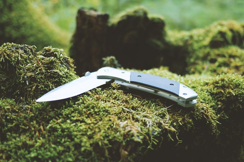 Jackknife, Knife, Camping Equipment, Environment, Grass