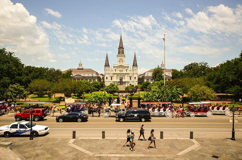 Usa, America, New Orleans, Louisiana, Jackson Square