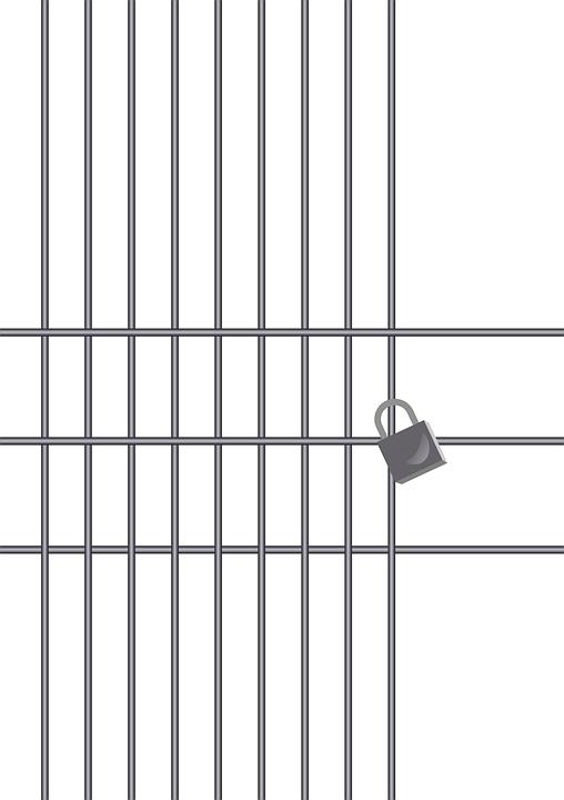 Jail, Prison, Locked, Bars