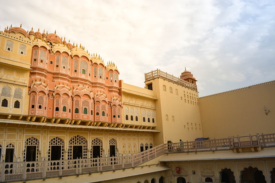 Red, Windows, History Monuments, Jaipur, Rajasthan