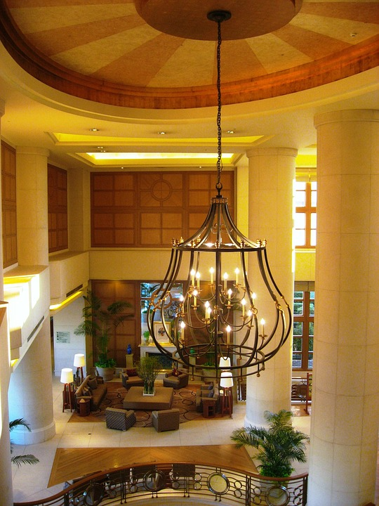 Hotel, Chandelier, Blow-by, Front, Japan Airlines