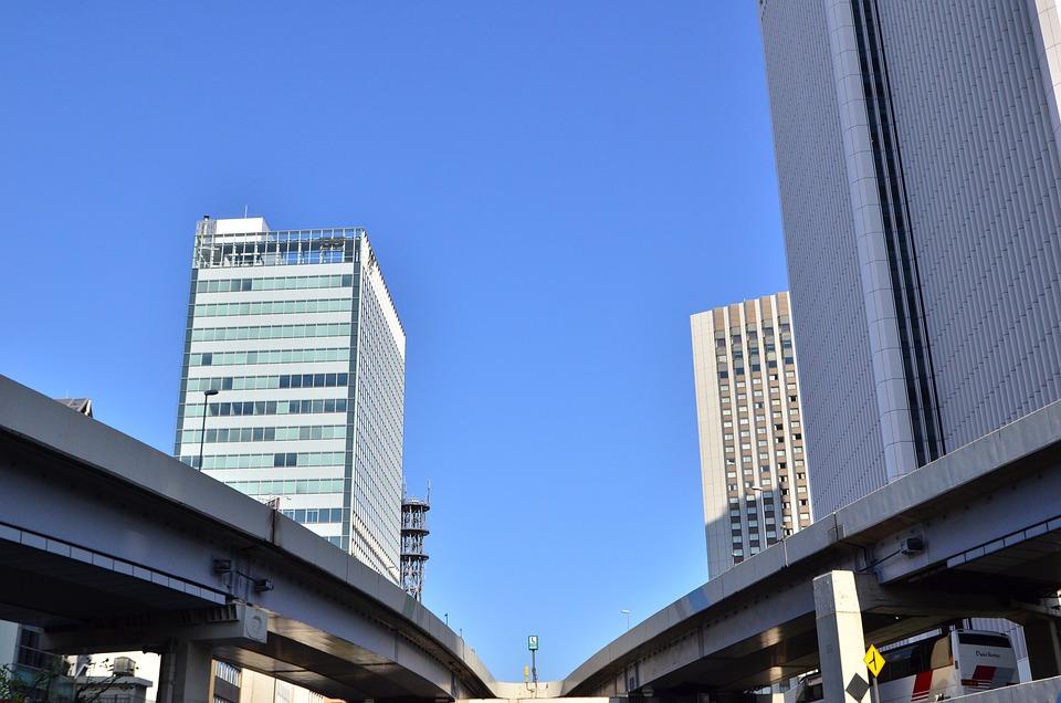 Building, Street, Japan, Tokyo
