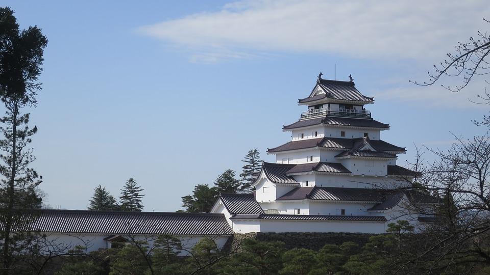 Castle, Japan, Architecture, Building, Asia, Japanese