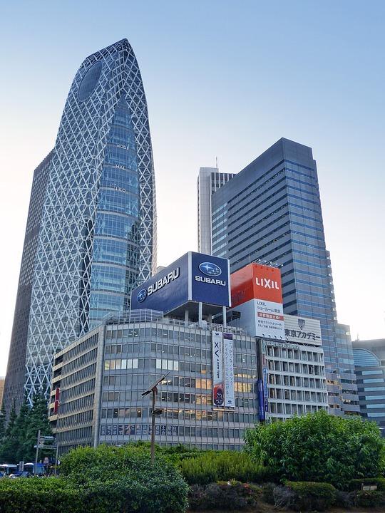 Japan, Tokyo, Shinjuku, Urban, Road, Crossing, Junction