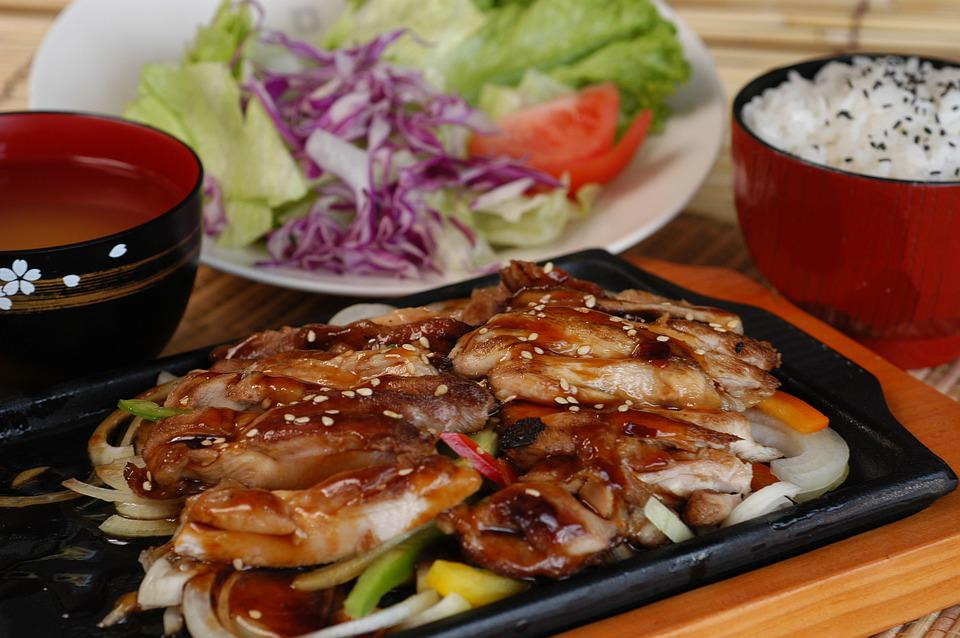 Free Photo Japan Cuisine Hot Plate Set Meal Teriyaki Chicken Max Pixel