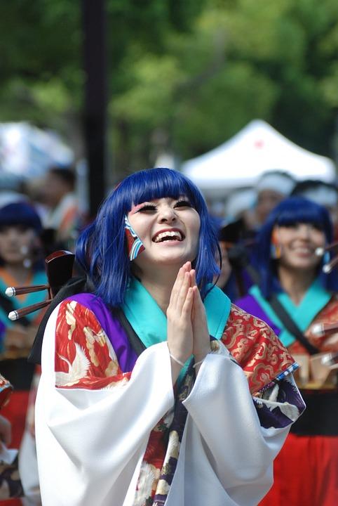 Smile, Japan, Smiling, Happy, Yosakoi, Japanese