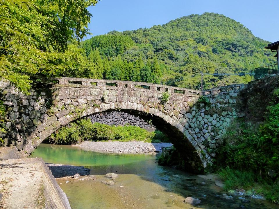 Ishibashi, Bridge, Japan, River, Natural