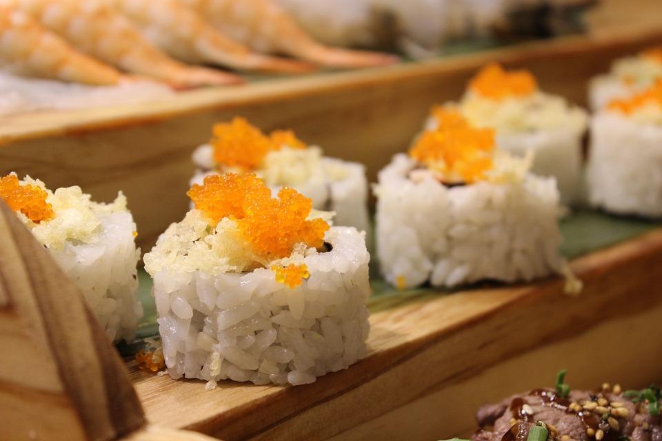 Sushi, Egg, Cooking, Restaurant, Japan, Japanese, Daegu