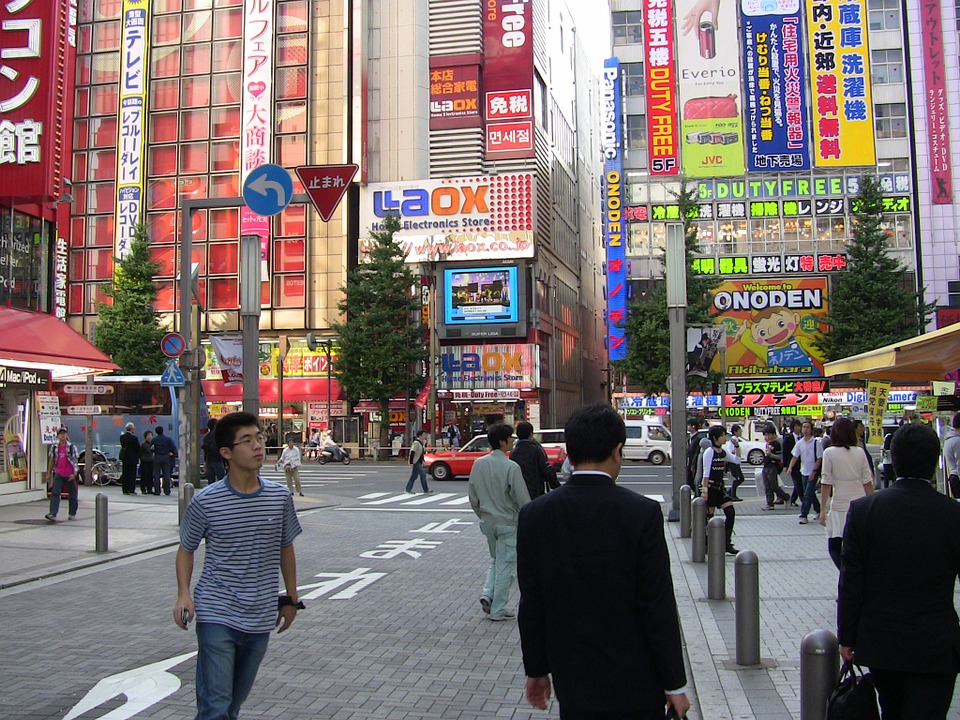 Tokyo, Japan, City, People, Metropole