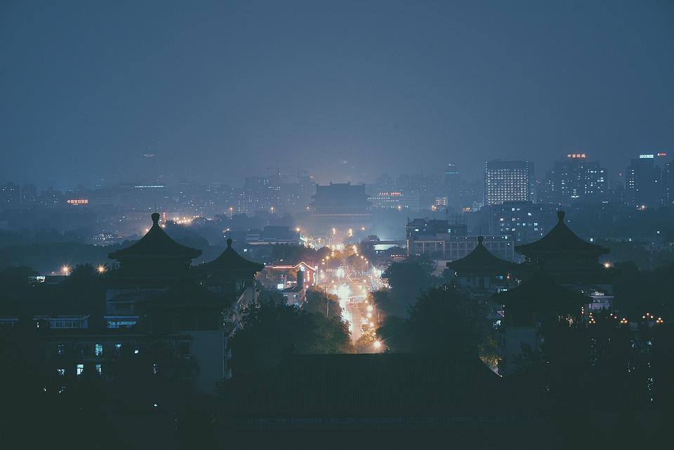 Night, Cityscape, Town, Asian, Japan, Sky, Urban