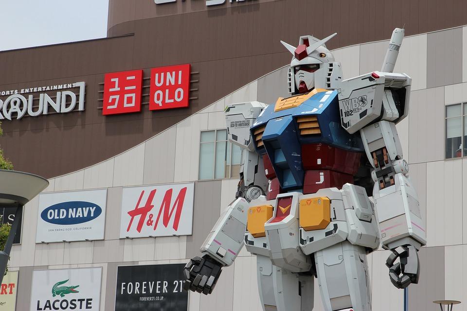 Gundam, Statue, Odaiba, Japan, Tokyo, Manga, East, Asia