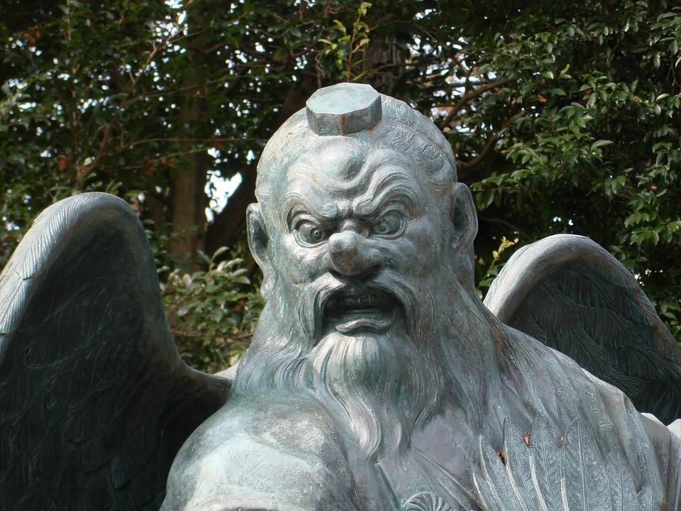 Statues, Tengu, Japan, Spirituality