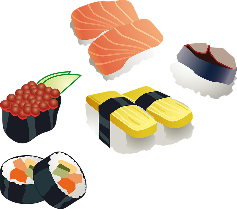 Sushi, Sushi Roll, Japanese, Food, Sea Food, Fish, Rice