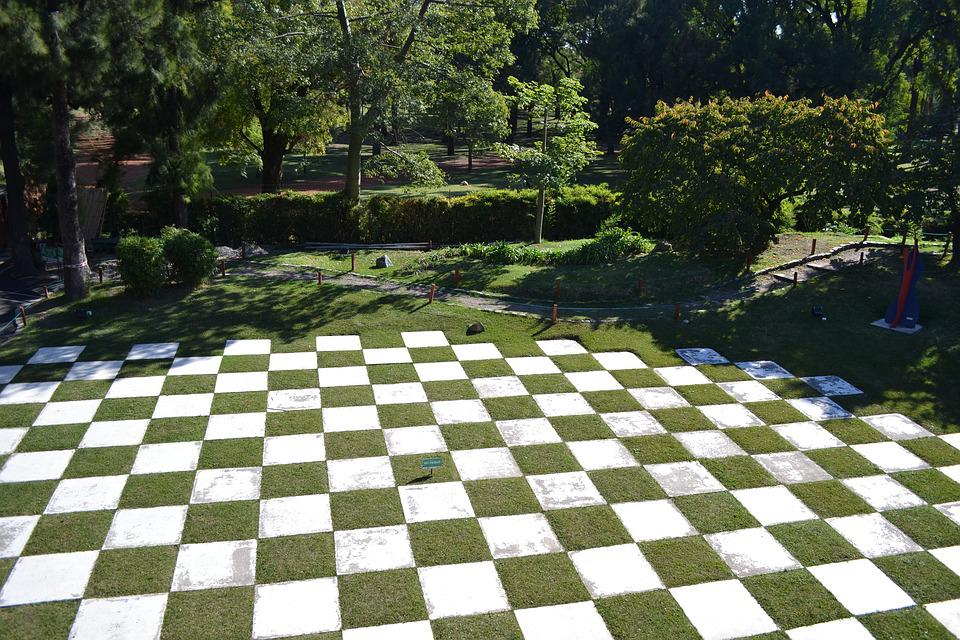 Garden, Zen, Japanese Garden, Grid