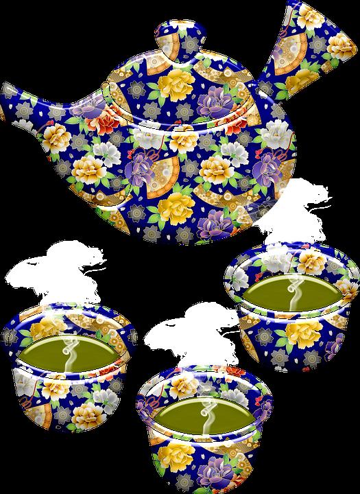 Japanese Tea Set, Japanese Pattern Tea Set, Tea