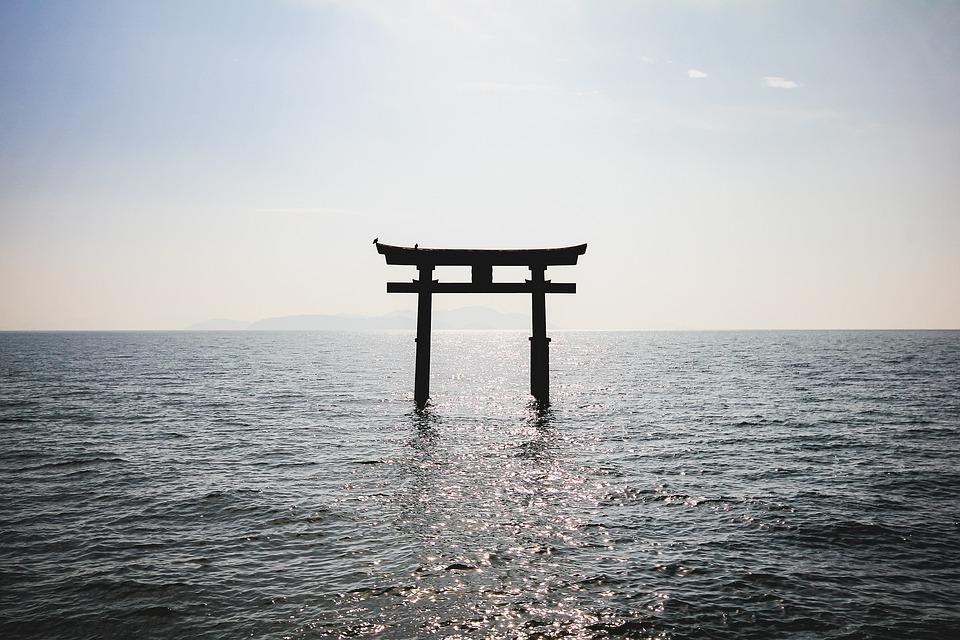 She, Water, Sanctuary, Japan, Mar, Japanese, Ocean