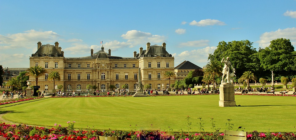 Paris, France, Landmark, Sky, Clouds, Jardin Du