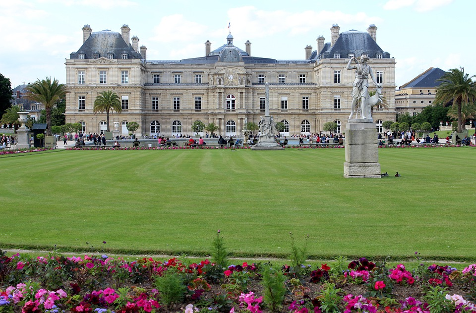 Paris, France, Landmark, Sky, Clouds, Jardin Du