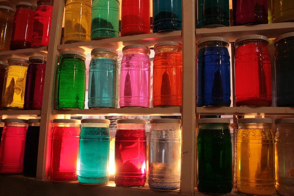 Jars, Herbalism, Color, Brightness