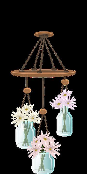 Wind Chimes, Decorative, Ornaments, Glass, Jars