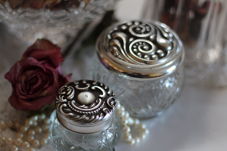 Glass Jars, Jars, Jewelry, Silver, Vintage
