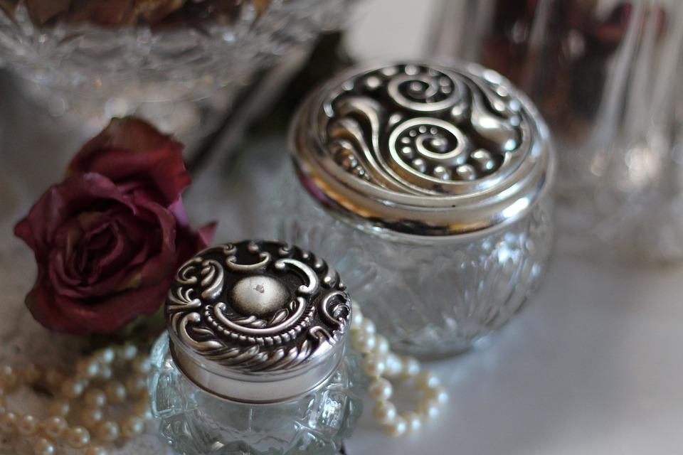 Glass Jars, Jars, Jewelry, Silver, Vintage
