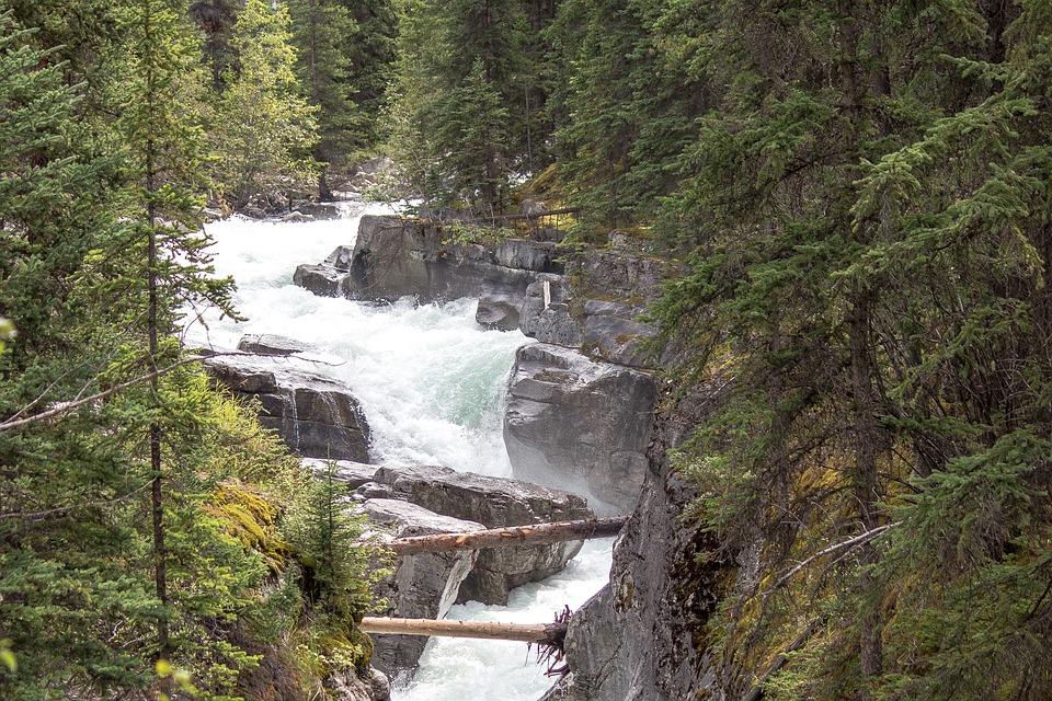 Wild River, Rapids, Maligne, River, Jasper, Alberta