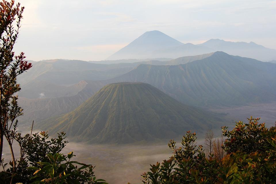 Dawn, Morning, Mount Bromo, Java, Indonesia, Mountain