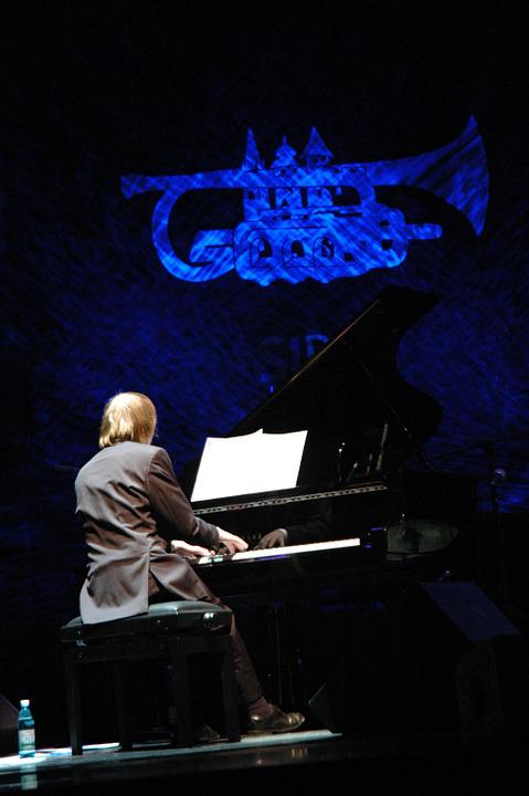 Jazz, Piano, Trumpet, Blue, Spotlight, Music, Musical