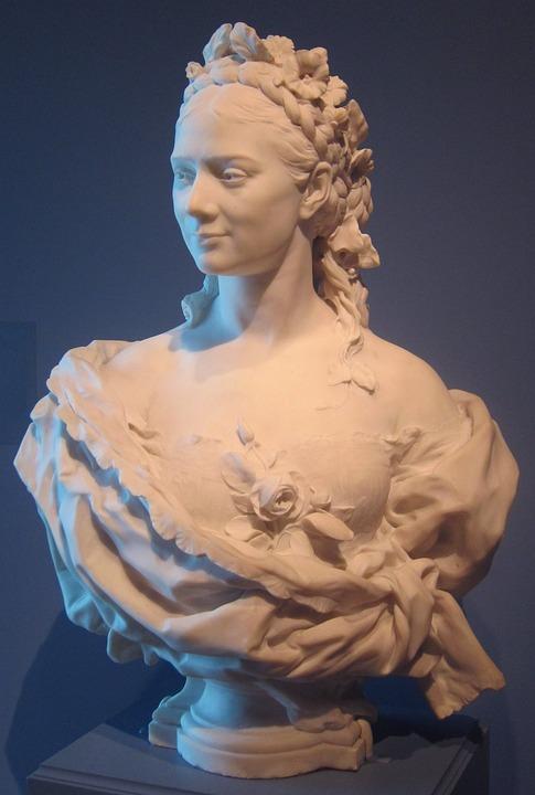 Bust, Lady, Jean, Baptiste, Carpeaux, Cleveland, Museum