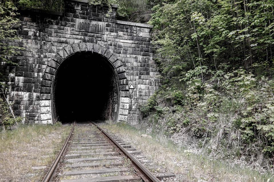 Tunnel, Tracks, Jedlina Masovian Voivodeship, Obsolete