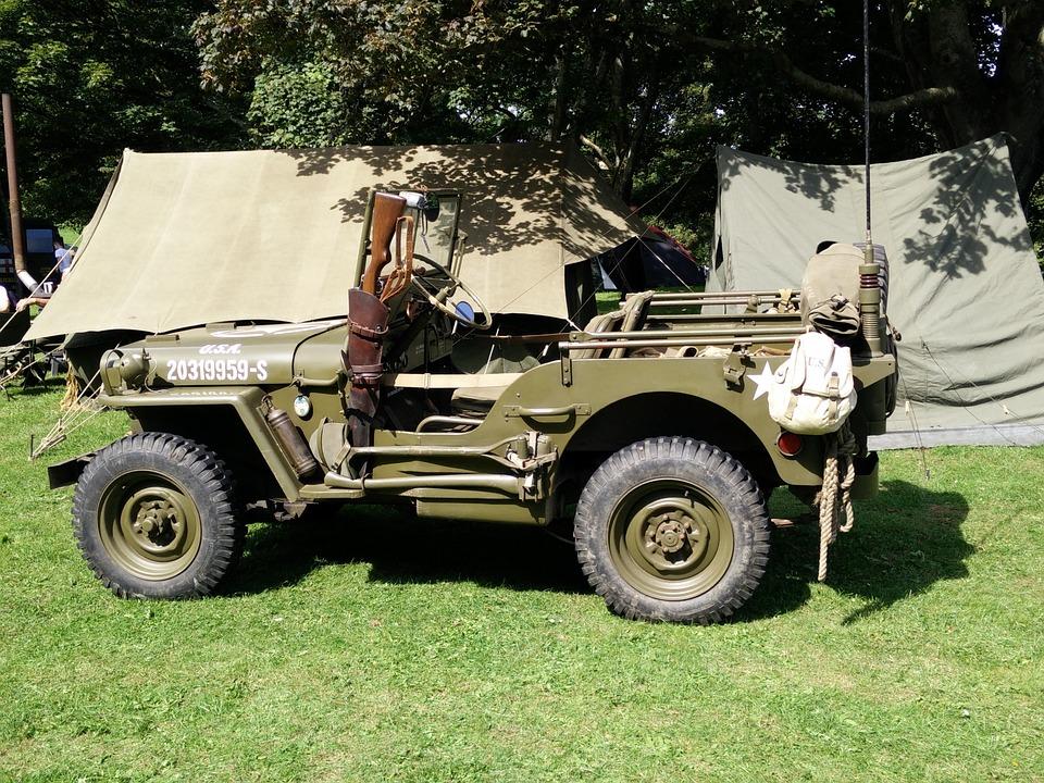 Vehicle, Car, Army, Military, Jeep