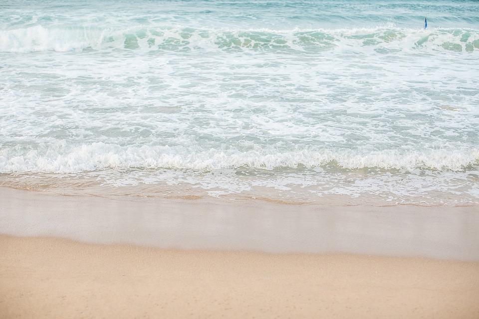 Jeju Island Sea Photo, Summer, White Sandy Beach