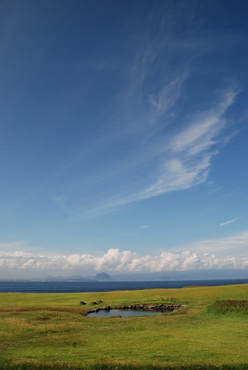 Sea, Sky, Marado, Jeju Island
