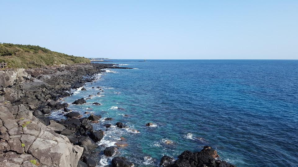 Sea, Landscape, Scenery, Jeju Island, Travel, Vacation