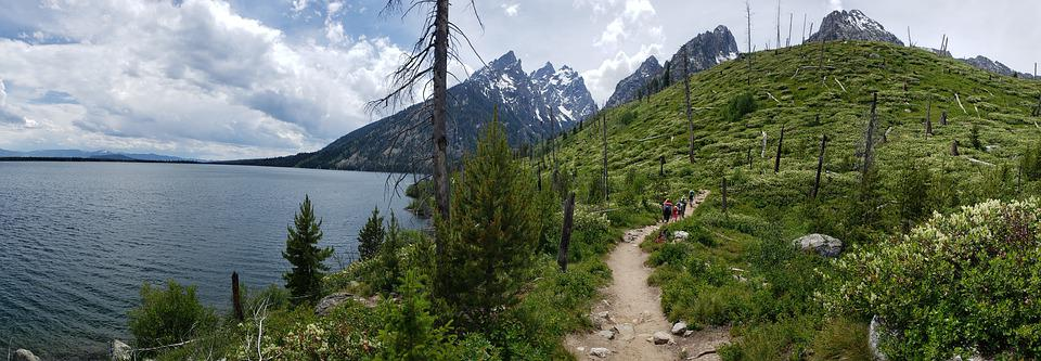 Family, Hike, Teton, National, Park, Jenny, Lake