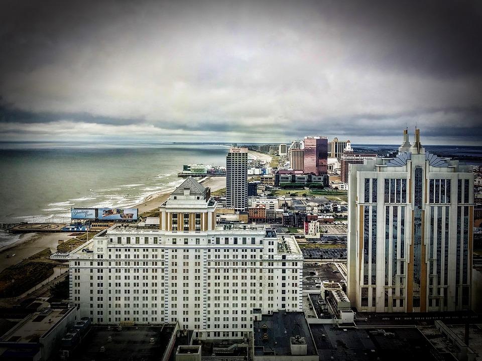 Atlantic City, Jersey Shore, Skyline, Ocean, Coast