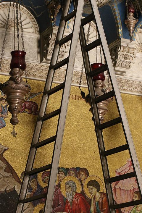 Jerusalem, Church, Holy, Sepulcher, Ladder, Dispute